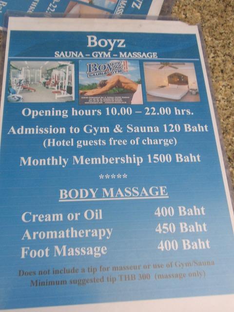 Boyz Sauna GYM Massage